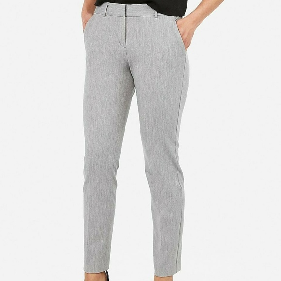 Express Pants - New Express Mid Rise Gray Ankle Columnist Pant 18